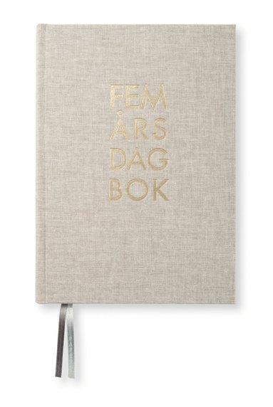Dagbok 5-års A5 textil natur