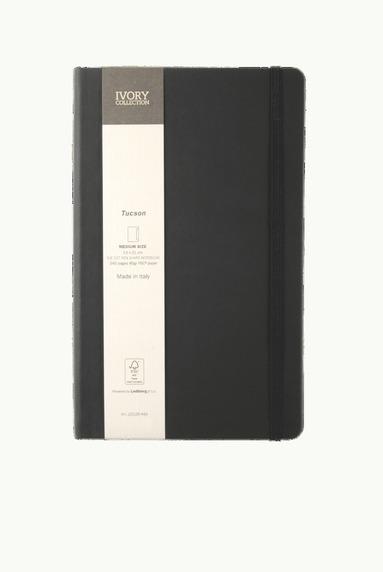 Anteckningsbok M Ivory Collection linjerad pennhållare svart 1