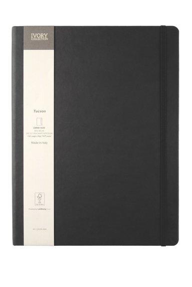 Anteckningsbok L Ivory Collection linjerad pennhållare svart 1