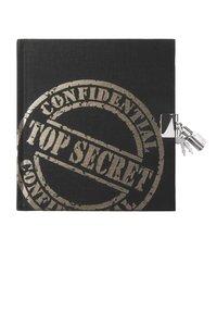Dagbok med lås Top Secret svart