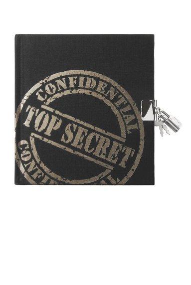 Dagbok med lås Top Secret svart 1