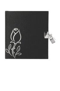 Dagbok med lås svart