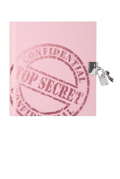 Dagbok med lås Top Secret rosa