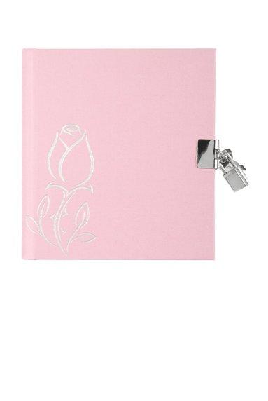 Dagbok med lås rosa
