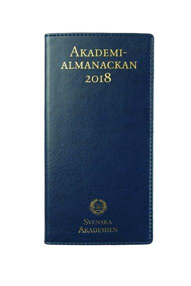Fickkalender 2018 Akademialmanackan blå 1