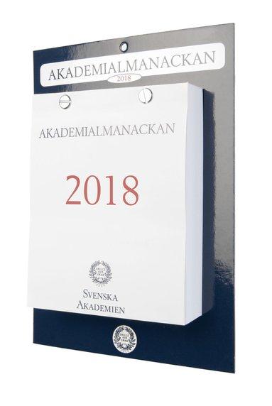 Väggkalender 2018 Akademialmanackan block 1