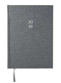 Kalender 2018 A5 Vecka/Sida notes antracit