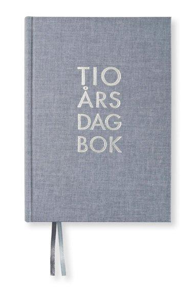 Dagbok 10-års A5 textil denim