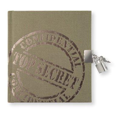 Dagbok med lås Top Secret - khakigrön 1