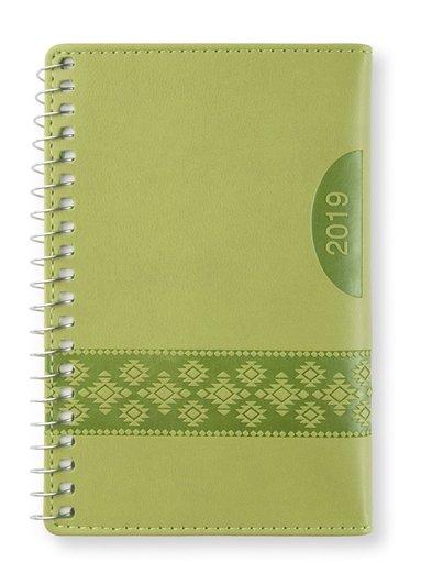 Kalender 2019 mini Vecka/Sida notes Apple green
