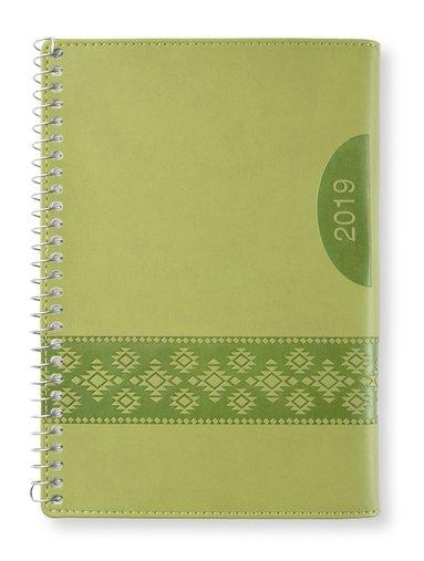 Kalender 2019 midi Vecka/Sida notes Apple green