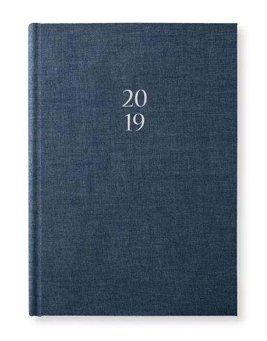Kalender 2019 A5 Vecka/Sida notes Classic denim