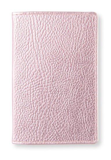 Kortfodral metallic rosa