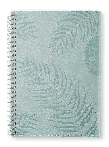 Kalender 2019-2020 midi Vecka/uppslag Palm green