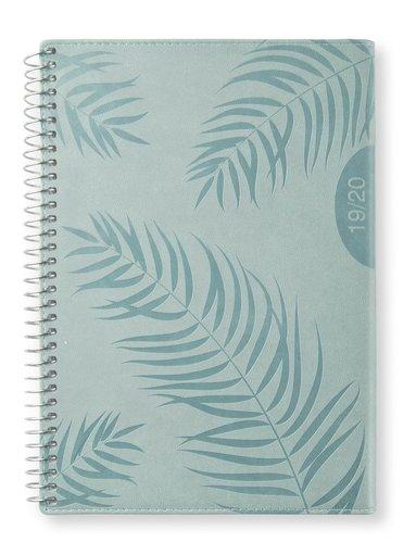 Kalender 2019-2020 A5 Vecka/uppslag horis Palm green