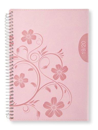Kalender 2019-2020 A5 Vecka/uppslag vert Pink blossom