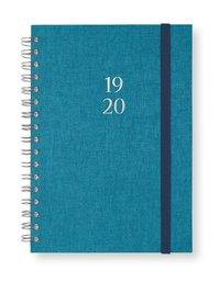 Kalender 2019-2020 A6 Vecka/sida Newport havsblå