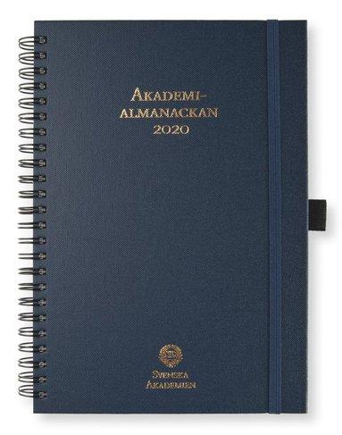 Kalender 2020 A5 Akademialmanackan spiral marinblå 1