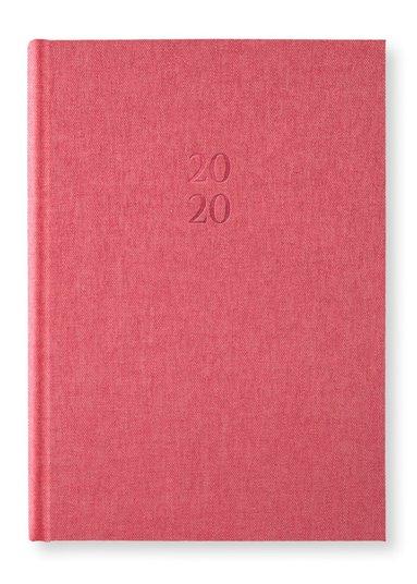 Kalender 2020 A5 Vecka/Uppslag notes Red Twist 1
