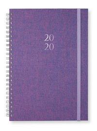 Kalender 2020 A5 Newport spiral Pink purple
