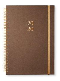 Kalender 2020 A5 Newport spiral Golden brown