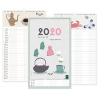 Väggkalender 2020 familj design Tina Backman