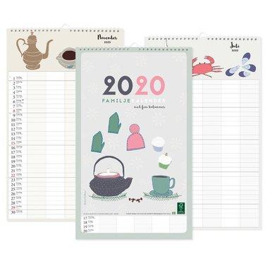 Väggkalender 2020 familj design Tina Backman 1