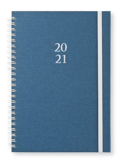Kalender 2020-2021 A5 Vecka/sida Newport blå 1