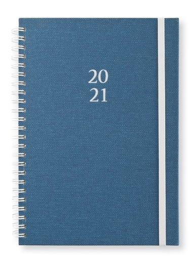 Kalender 2020-2021 A5 Newport Vecka/Uppslag dotted blå 1