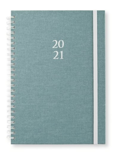 Kalender 2020-2021 A5 Newport Vecka/Uppslag dotted grön 1