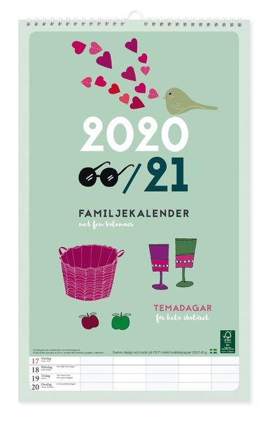 Väggkalender 2020-2021 Familjekalender design Tina Backman 1