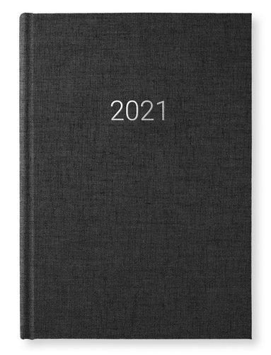 Kalender 2021 A5 Vecka/Sida notes transparent svart 1