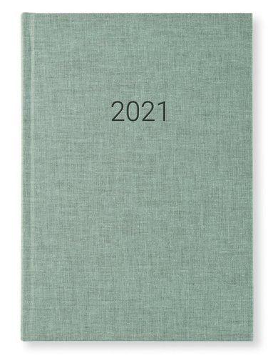 Kalender 2021 A5 Vecka/Sida notes Misty green 1