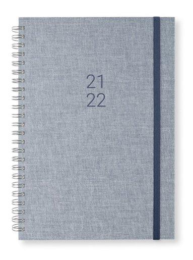 Kalender 2021-2022 A5 Newport Vecka/sida notes denim 1