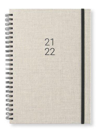Kalender 2021-2022 A5 Newport Vecka/sida notes grå 1
