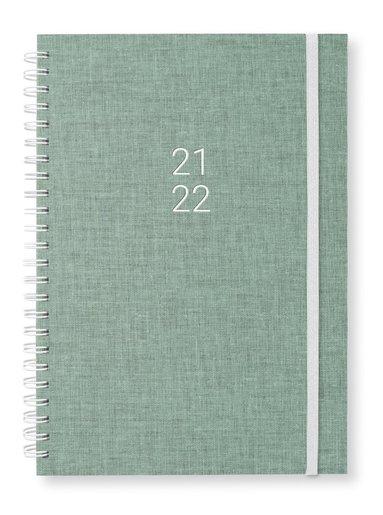 Kalender 2021-2022 A5 Newport Vecka/Sida notes misty green 1