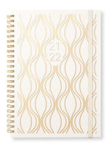 Kalender 2021-2022 A5 Newport Vecka/sida notes golden graphic 1