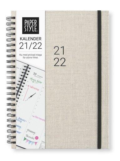 Kalender 2021-2022 A5 Newport Vecka/Uppslag grå 1