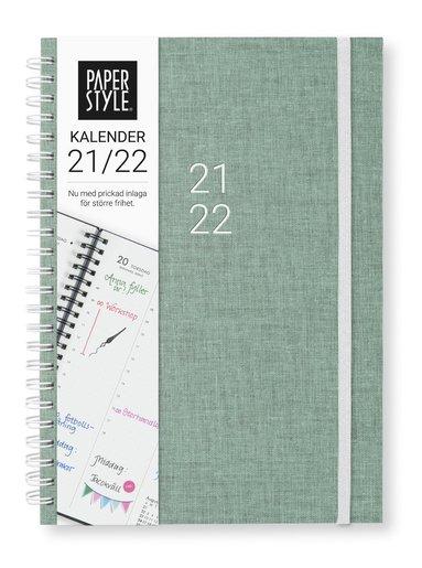 Kalender 2021-2022 A5 Newport Vecka/uppslag misty green 1