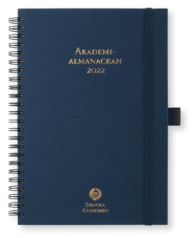 Kalender 2022 A5 Akademialmanackan blå 1