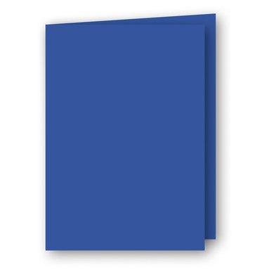 Kort A5 dubbla 5-pack klarblå