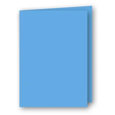 Kort A5 dubbla 5-pack azurblå