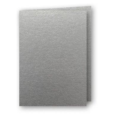 Kort A5 dubbla 5-pack silver