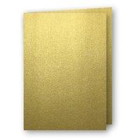 Kort A5 dubbla 5-pack guld