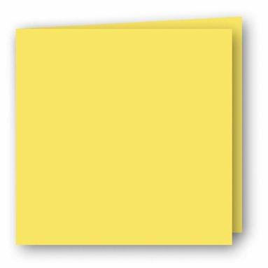 Kort kvadrat dubbla 5-pack gul
