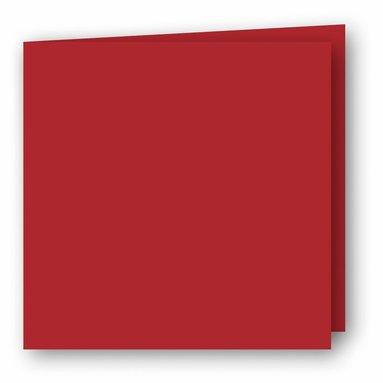 Kort kvadrat dubbla 5-pack röd