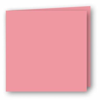 Kort kvadrat dubbla 5-pack rosa