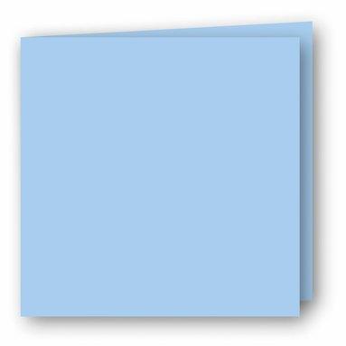 Kort kvadrat dubbla 5-pack ljusblå
