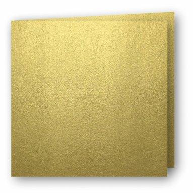 Kort kvadrat dubbla 5-pack guld