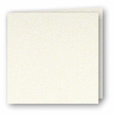 Kort kvadrat dubbla 5-pack pärlemor creme